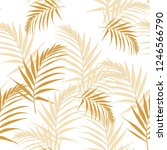 tropical abstract yellow leaves ... | Shutterstock .eps vector #1246566790