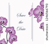 floral elegant invite card with ... | Shutterstock .eps vector #1246566793