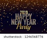 2019 new year party luxury... | Shutterstock .eps vector #1246568776