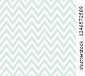 Green And White Zig Zag Patter...