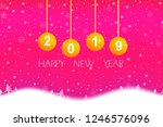 christmas and happy new year... | Shutterstock .eps vector #1246576096
