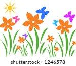 butterfly garden | Shutterstock . vector #1246578