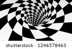 Animated Hypnotic Tunnel With...