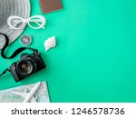 top view travel concept with... | Shutterstock . vector #1246578736