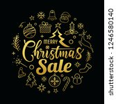 merry christmas sale message... | Shutterstock .eps vector #1246580140