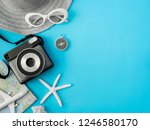 top view travel concept with... | Shutterstock . vector #1246580170