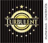 turbulent shiny badge | Shutterstock .eps vector #1246584256