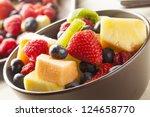 Fresh Organic Fruit Salad On A...