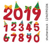 arabic numerals vector design | Shutterstock .eps vector #1246590106