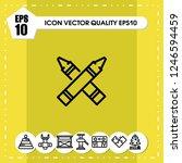highlighter icon vector | Shutterstock .eps vector #1246594459