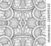monochrome seamless tile...   Shutterstock .eps vector #1246595110