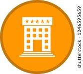 hotel glyph round circle multi...   Shutterstock .eps vector #1246595659