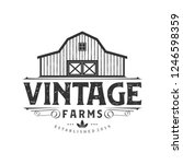 Vintage Farm Logo Design   Bar...