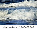 stormy windy waves on... | Shutterstock . vector #1246602340