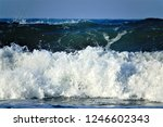 stormy windy waves on... | Shutterstock . vector #1246602343