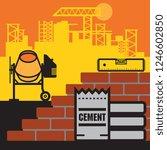 concrete mixer  construction... | Shutterstock .eps vector #1246602850