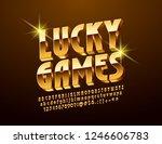 vector bright logo lucky games. ...   Shutterstock .eps vector #1246606783