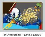 happy new year greeting card... | Shutterstock .eps vector #1246612099