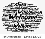 welcome word cloud in different ... | Shutterstock .eps vector #1246612723