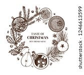 christmas card or invitation... | Shutterstock .eps vector #1246613599