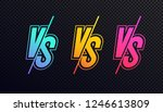 versus sign set neon style... | Shutterstock .eps vector #1246613809