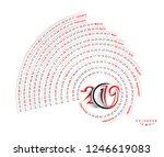 happy new year 2019 calendar  ... | Shutterstock .eps vector #1246619083