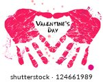 valentine's day illustration | Shutterstock .eps vector #124661989