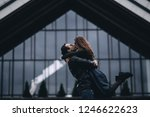 couple in love happily hugging ... | Shutterstock . vector #1246622623