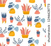seamless vector pattern with... | Shutterstock .eps vector #1246628773