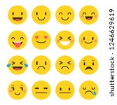 emotional collection of face... | Shutterstock .eps vector #1246629619