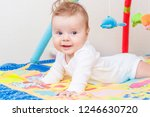 playing little child on the... | Shutterstock . vector #1246630720