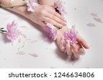 skin care. stylish photo nude... | Shutterstock . vector #1246634806