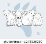 panda bear hidden in polar... | Shutterstock .eps vector #1246635280