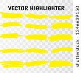 yellow watercolor hand drawn... | Shutterstock .eps vector #1246639150