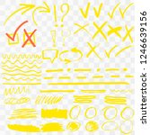 highlighter markers vector... | Shutterstock .eps vector #1246639156