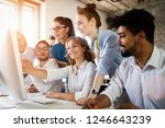 group of young businesspeople... | Shutterstock . vector #1246643239