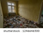old books in the old library of ... | Shutterstock . vector #1246646500