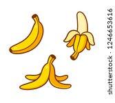 set of cartoon banana drawings  ... | Shutterstock . vector #1246653616