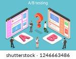 isometric flat vector concept... | Shutterstock .eps vector #1246663486