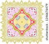 decorative colorful ornament on ... | Shutterstock .eps vector #1246676479