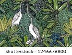 seamless pattern vector... | Shutterstock .eps vector #1246676800