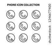 phone icon collection | Shutterstock .eps vector #1246677400