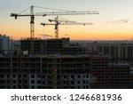 industrial construction tower... | Shutterstock . vector #1246681936