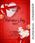 party flyer for happy valentine'... | Shutterstock .eps vector #1246683439