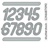 set of stylish disco vector...   Shutterstock .eps vector #1246687090