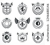 vector emblems  vintage... | Shutterstock .eps vector #1246688146