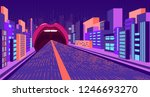 absurd neon  a road that... | Shutterstock .eps vector #1246693270