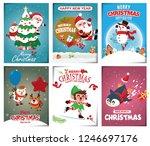 vintage christmas poster design ... | Shutterstock .eps vector #1246697176
