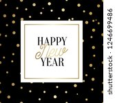 happy new year square greeting... | Shutterstock .eps vector #1246699486