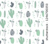 vector seamless pattern with...   Shutterstock .eps vector #1246700353
